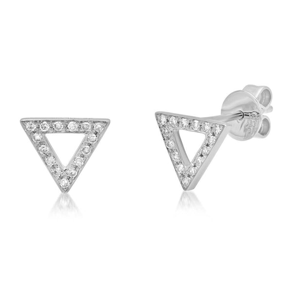 14K GOLD DIAMOND RANDI STUDS (ALL COLORS)