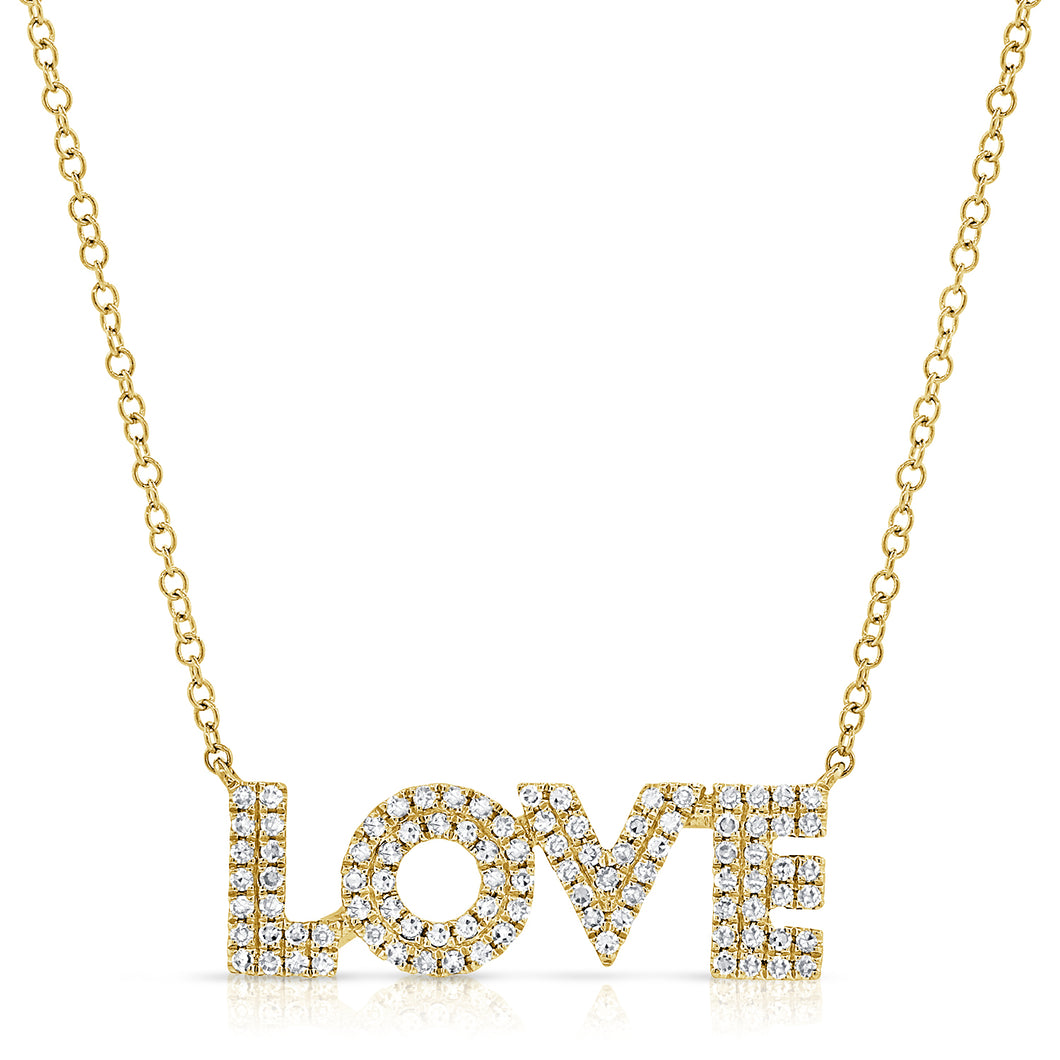 14K GOLD DIAMOND AVA LOVE NECKLACE