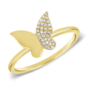 14K GOLD DIAMOND ROSALIE BUTTERFLY RING