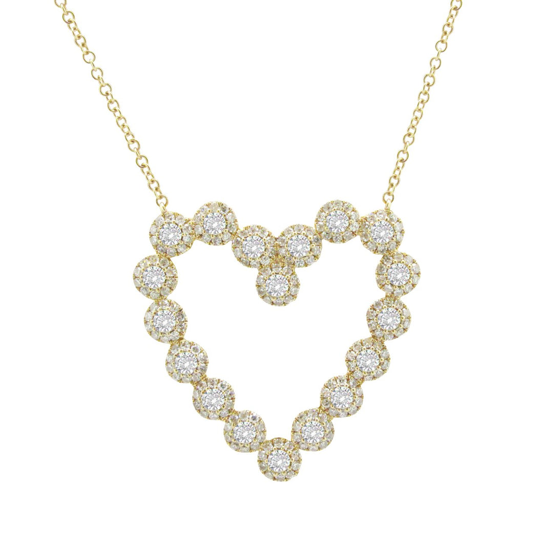 14K GOLD DIAMOND EVIE HEART NECKLACE