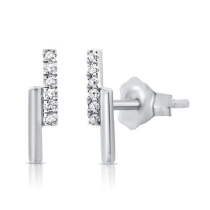 14K GOLD DIAMOND ABIGAIL STUDS