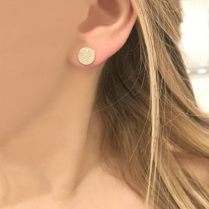 14K GOLD DIAMOND MEDIUM ANNIE CIRCLE STUDS