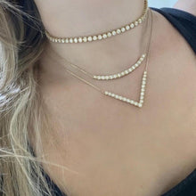 14K GOLD 4 CT DIAMOND ADDISON CHOKER