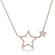 14K GOLD DIAMOND OPEN HANNAH NECKLACE