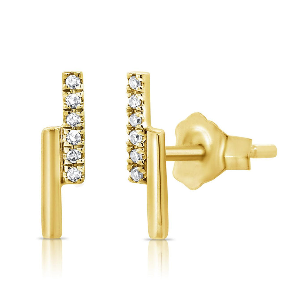 14K GOLD DIAMOND DARCY EARRINGS