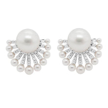 14K GOLD DIAMOND PEARL ORLEE EARRINGS
