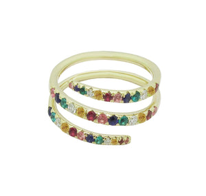 14K GOLD LYLA RAINBOW WRAP AROUND RING