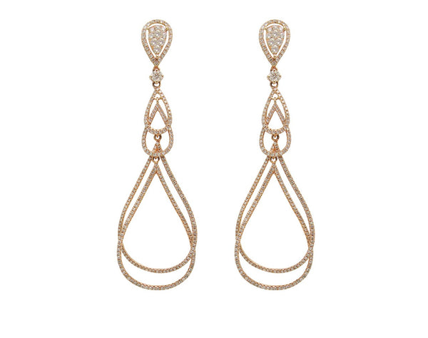 14K ROSE GOLD DIAMOND RENEE EARRINGS