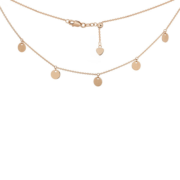 Disc Choker Necklace in 14k Gold