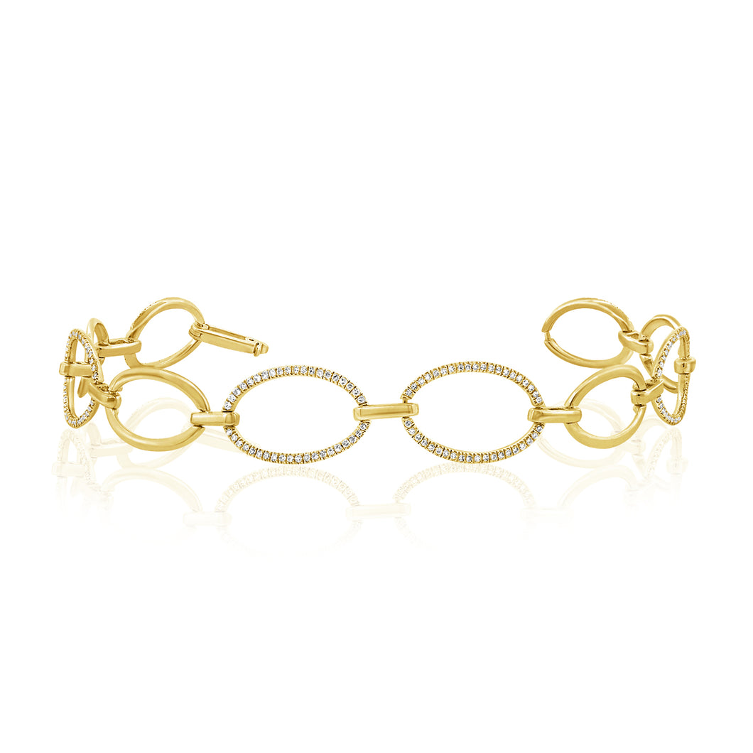 14K GOLD DIAMOND MINA BRACELET