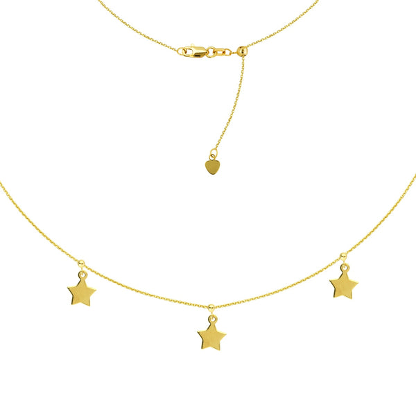 Star Choker in 14k Yellow Gold