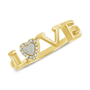 14K GOLD DIAMOND HAILEY LOVE RING