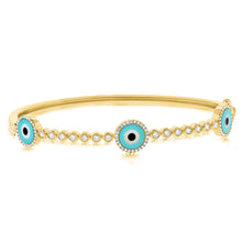 14K GOLD DIAMOND SIENNA ROUND EYE BANGLE