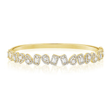 14K GOLD DIAMOND DALIA BANGLE