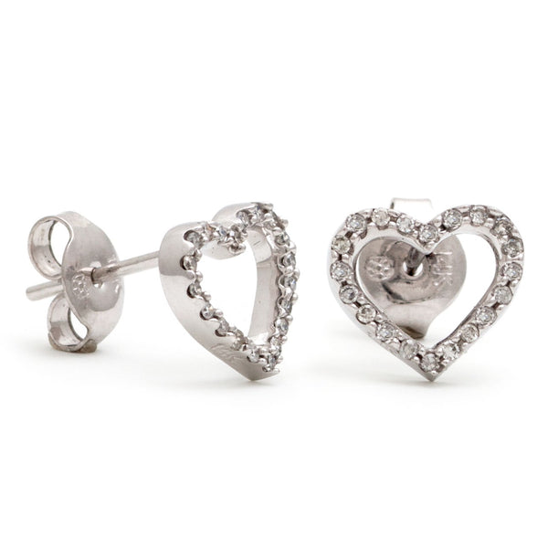 14K GOLD DIAMOND CHLOE HEART STUDS