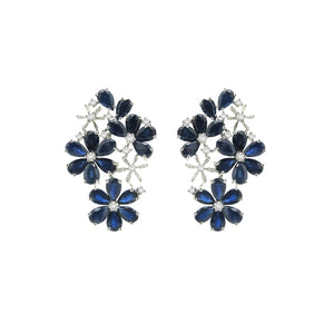 14K WHITE GOLD SAPPHIRE KIARA EARRINGS