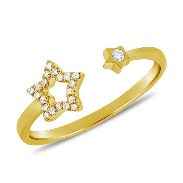 14K GOLD DIAMOND MEGAN RING