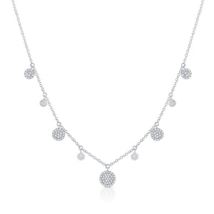 14K GOLD DIAMOND WILLOW CIRCLE NECKLACE