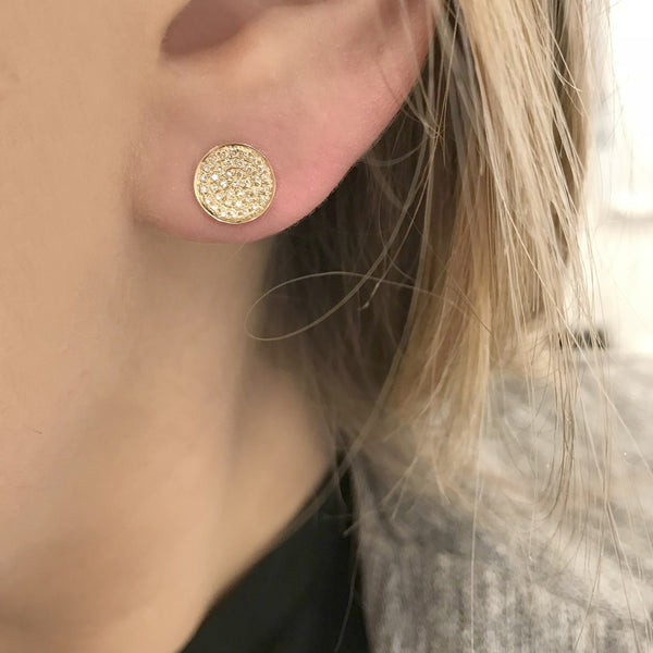 14K GOLD DIAMOND CHELSEA STUDS (ALL COLORS)
