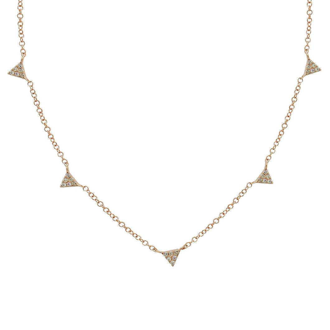 14K GOLD DIAMOND GISELE NECKLACE (ALL COLORS)