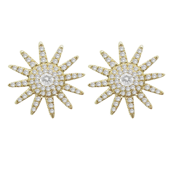 14K GOLD DIAMOND GRACE STUDS (ALL COLORS)