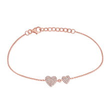 14K GOLD DIAMOND HEATHER HEART BRACELET