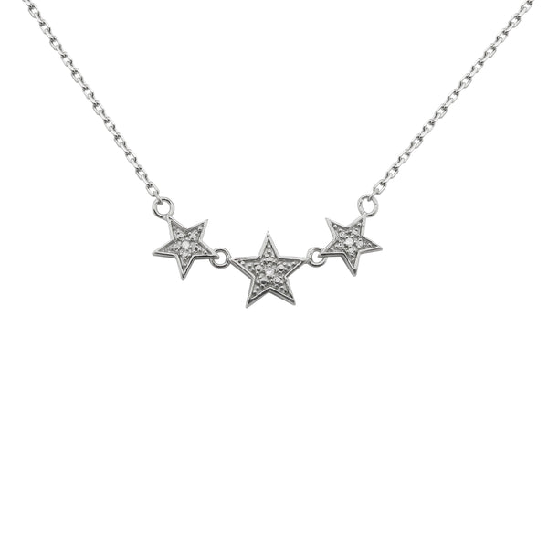 STERLING SILVER DIAMOND AMANDA STAR NECKLACE