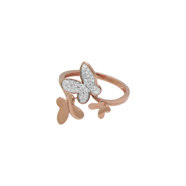 14K GOLD DIAMOND ESME BUTTERFLY RING