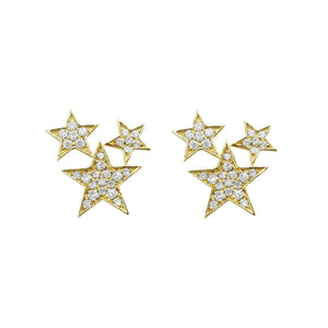 14K GOLD DIAMOND CELESTE STUDS