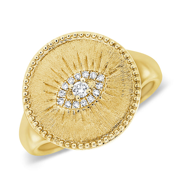 14K GOLD DIAMOND DAKOTA EYE RING