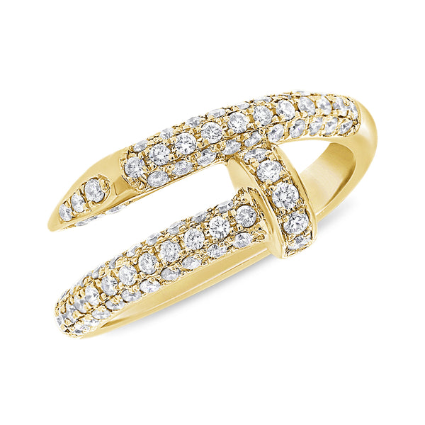 14K GOLD DIAMOND EVA NAIL RING