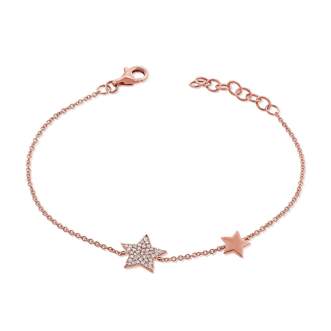 14K GOLD DIAMOND HAYDEN STAR BRACELET
