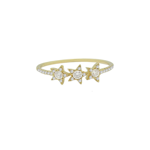 14K GOLD DIAMOND TANA RING (ALL COLORS)