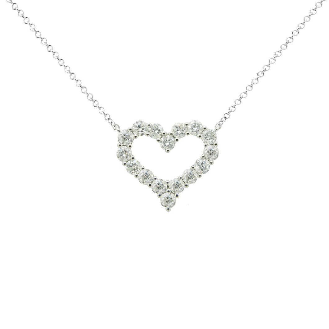 14K WHITE GOLD DIAMOND ROSIE NECKLACE