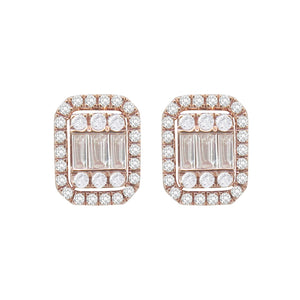 14K GOLD DIAMOND ABBY STUDS