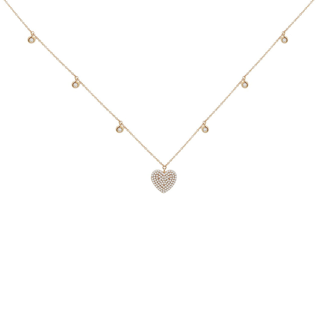 14K ROSE GOLD DIAMOND GRACE NECKLACE