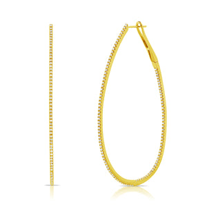 14K GOLD DIAMOND MICHELLE HOOPS