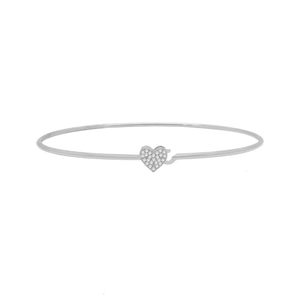 14K GOLD DIAMOND EMILY BANGLE (ALL COLORS)