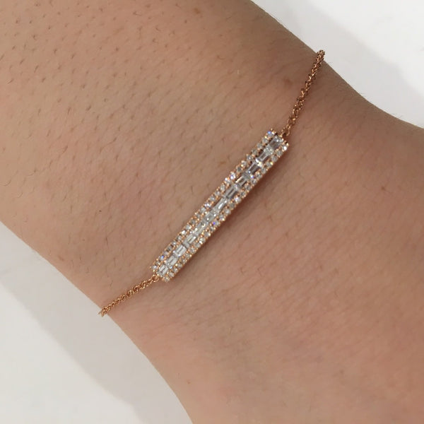 14KT GOLD DIAMOND RIKKI BRACELET  (All Colors)
