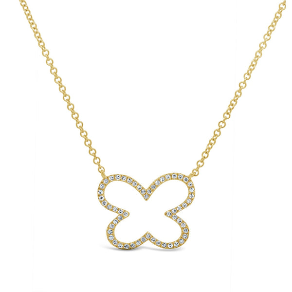 14K GOLD DIAMOND AVA OPEN NECKLACE (ALL COLORS)
