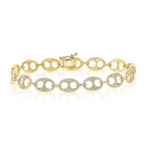 14K GOLD DIAMOND LARGE ALICE BRACELET