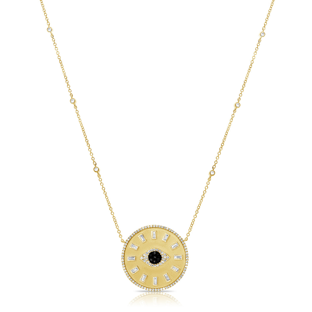 14K GOLD DIAMOND ERICA EYE NECKLACE