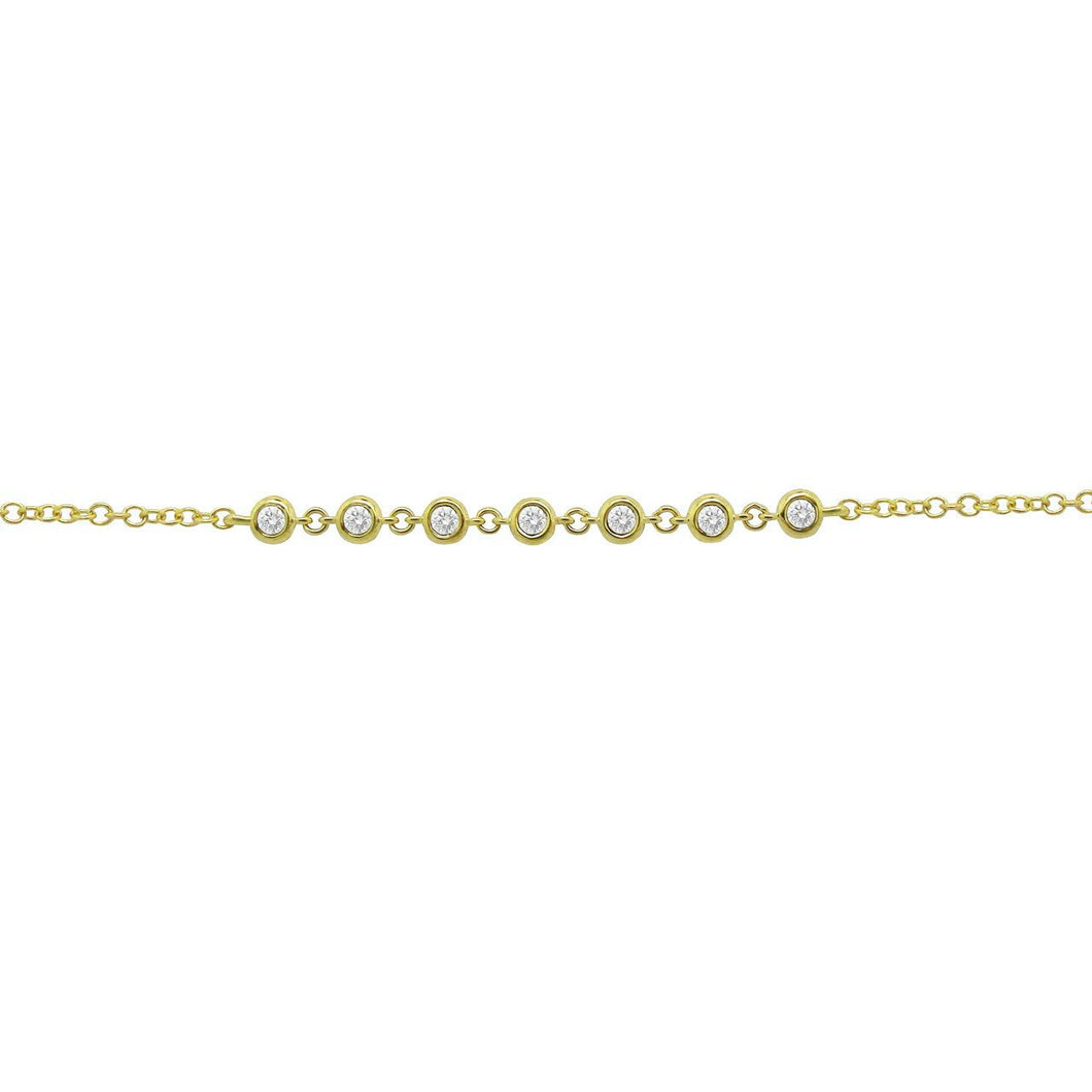 14K GOLD DIAMOND RITA BRACELET (ALL COLORS)