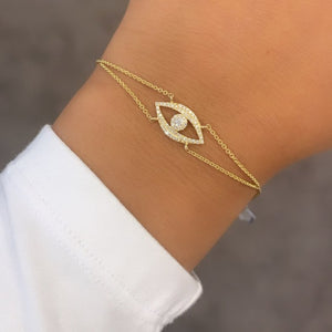 14K GOLD DIAMOND LYLA EYE BRACELET