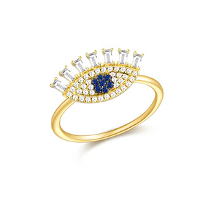 14K GOLD DIAMOND ELYSE EYE RING