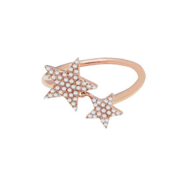 14K GOLD DIAMOND ARIELLA STAR RING