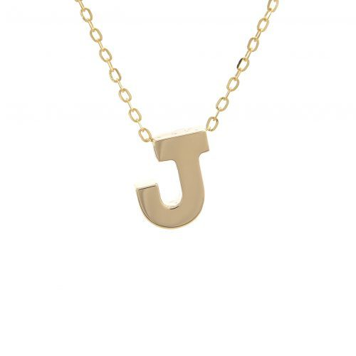 14k Gold Letter Initial Necklace