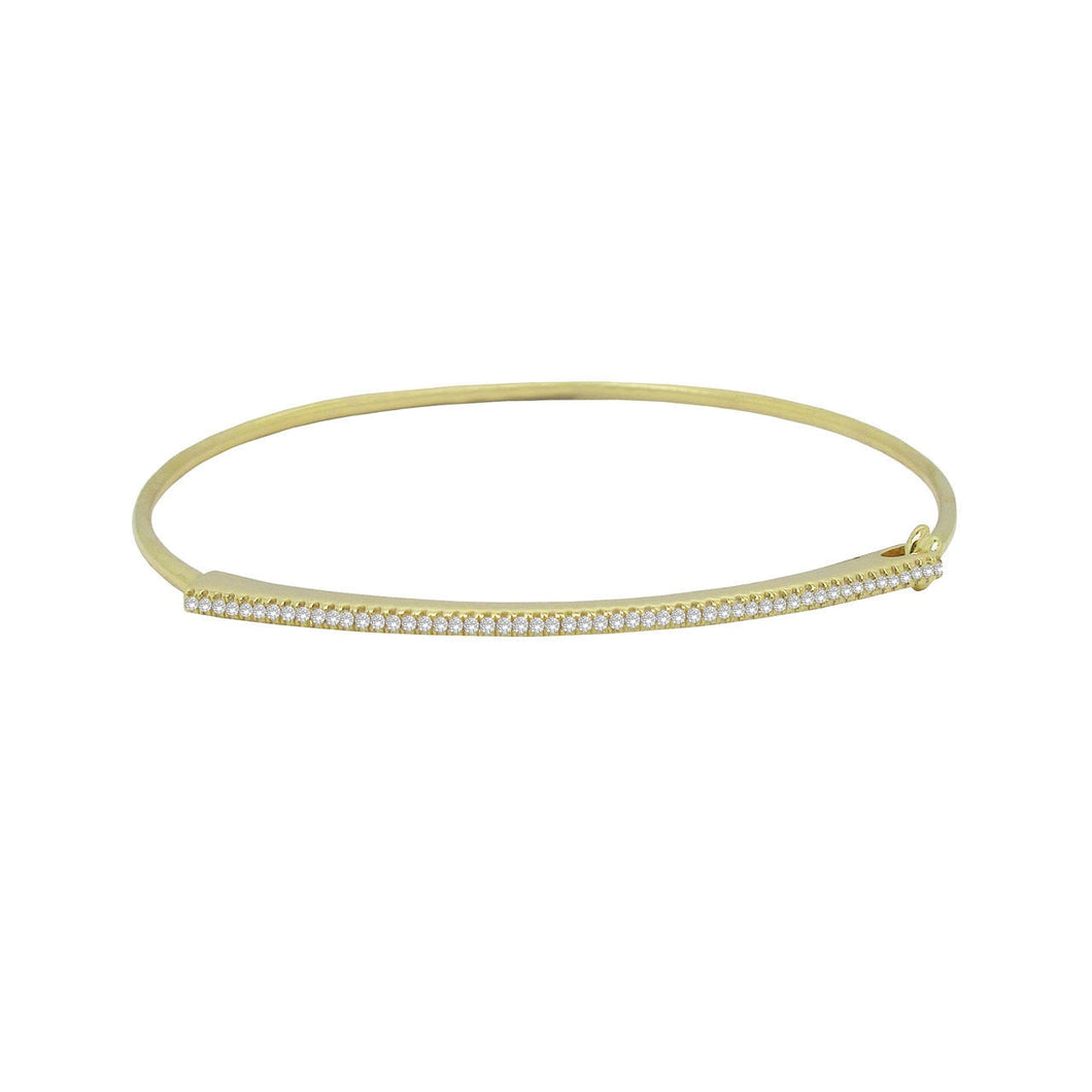 14K GOLD DIAMOND RACHEL BANGLE (ALL COLORS)
