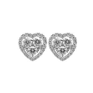 18 WHITE GOLD DIAMOND MARINA STUDS