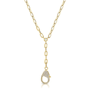 14K GOLD DIAMOND LIZZIE NECKLACE